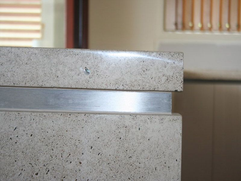 Polished Concrete Benchtops Mixed Element Sunshine Coast