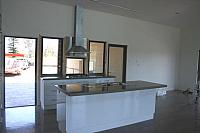 Concrete Benchtop matching polished Concrete Floor